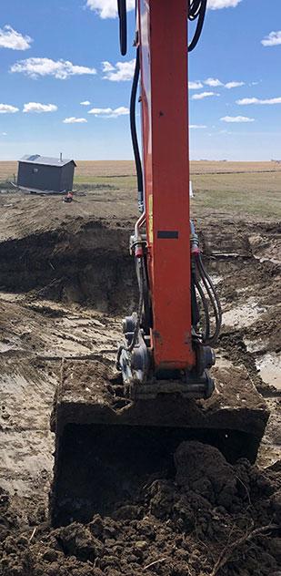 Vanderhaar Construction Ltd. pond digging and filling